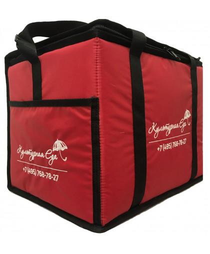 Терморюкзак для доставки обедов, напитков (загрузка сверху)